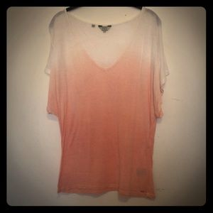 Guess white and peach top